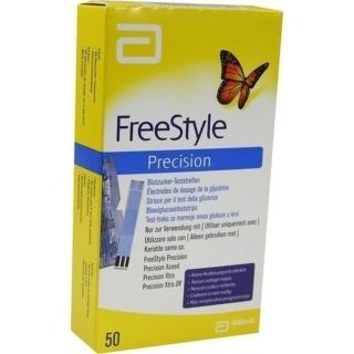 Freestyle Precision Blutzucker-Teststr.O.Codieren - (50 St) - PZN 06905334