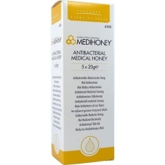 Medihoney Antibakterieller Medizinischer Honig - (5X20 g)...