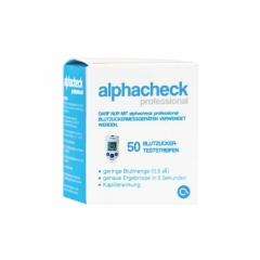 Alphacheck Professional Blutzuckerteststreifen - (50 St)...