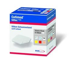 Cutimed Siltec Plus 10X10Cm - (12 St) - PZN 10204229