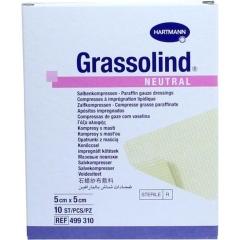Grassolind Salbenkompressen Steril 5X5Cm - (10 St) - PZN...