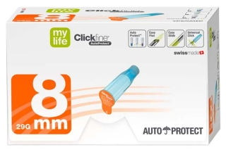 Mylife Clickfine Autoprotect 8Mm - (100 St) - PZN 06426562